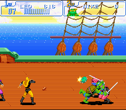 TMNT IV - Turtles in time9.png - игры формата nes